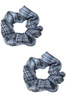 Blue Plaid Scrunchie