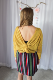 Mustard Open Back Top