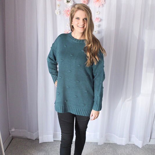 Teal Bubble Sweater