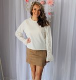Ivory Eyelet Long Sleeve