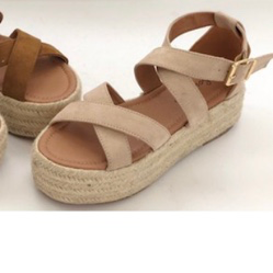 Platform Wedge - Natural