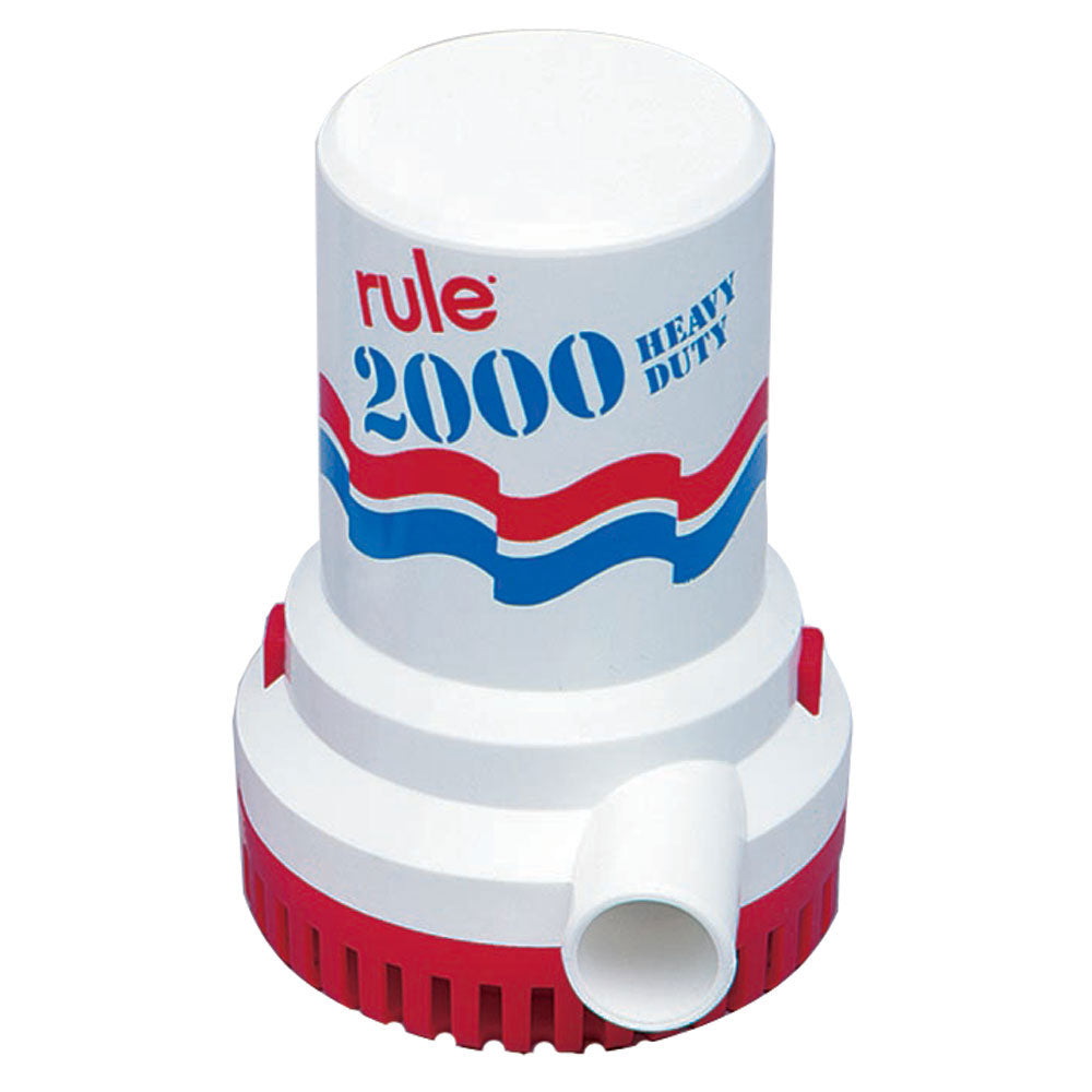 Rule 2000 GPH Non-Automatic Bilge Pump w/6' Leads [10-6UL]