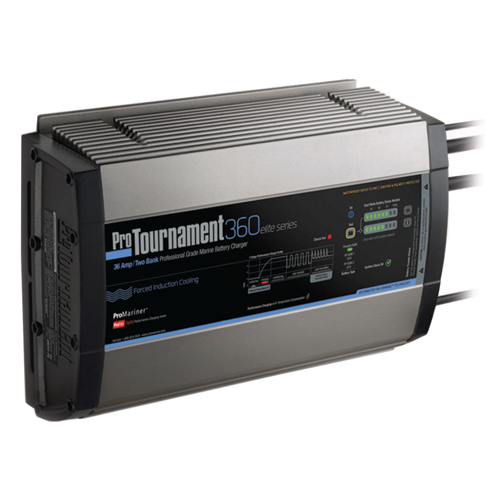 ProMariner ProTournament 360 elite Dual Charger - 36 Amp, 2 Bank [52032]