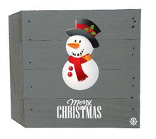 Load image into Gallery viewer, Snowman Wood Box