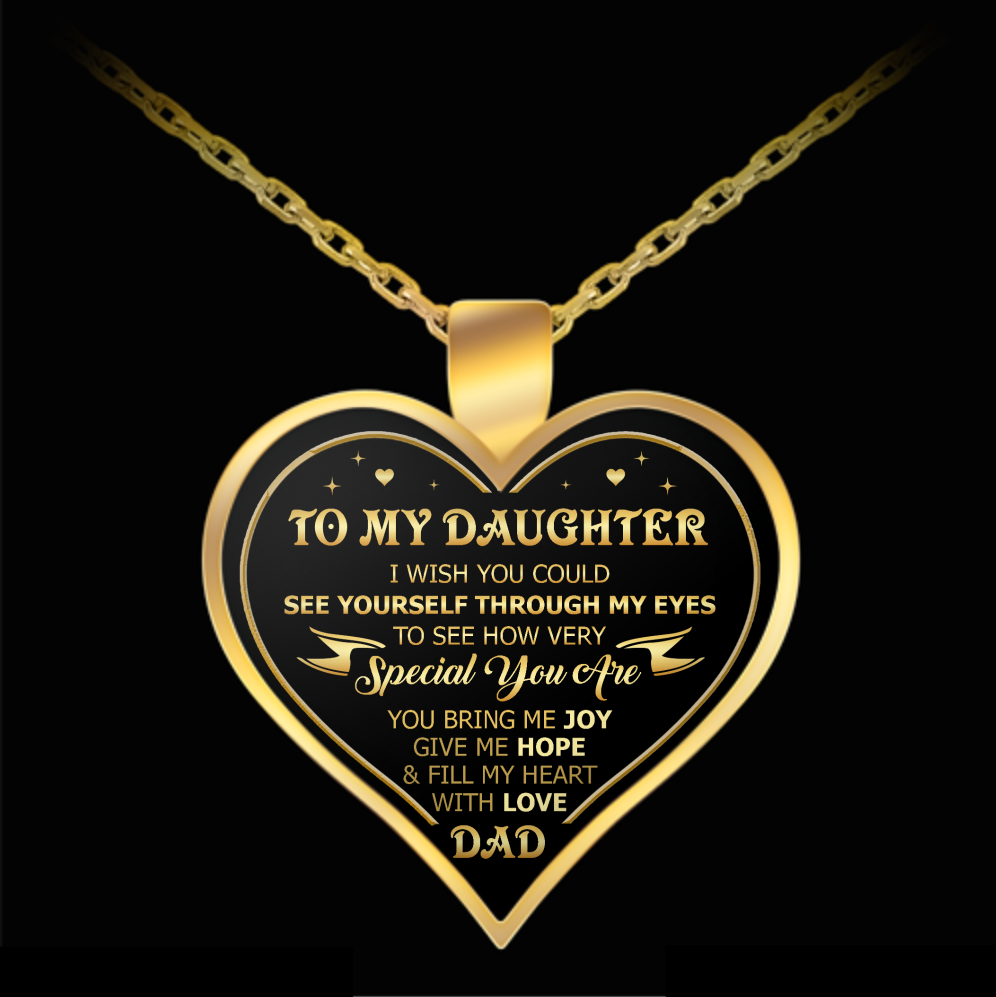 Necklace From Dad To Daughter - Through My Eyes - Sentimental Daughter Gift