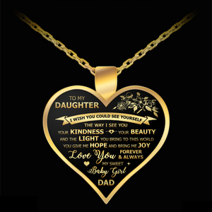 to my daughter from dad necklace