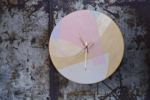 Birch ply wood clock