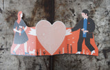 Man and Woman Concertina Heart Card