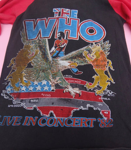Vintage The Who Farewell Tour Tee 1982 Small