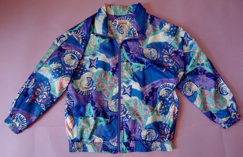 90's Oversized Pastel Seashell Jacket