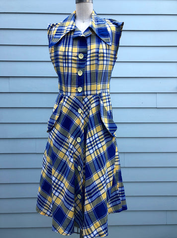 Perfectly Plaid Vintage Dress