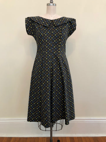 Queen of Hearts Vintage Dress Size Small 1950's-1960's
