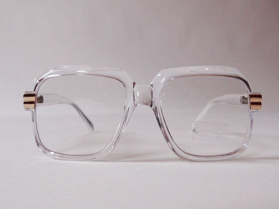 80s Street Style Clear Frame Glasses Funky Monkey New ...
