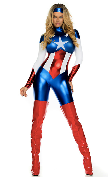 Astonishing Allegiance Sexy Hero Costume - Rumor Apparel