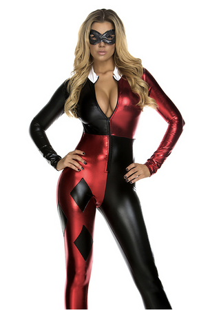 Jazzy Jester Sexy Comic Book Character Costume - Rumor Apparel