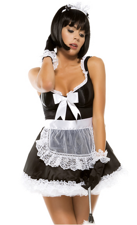 Domesticated Delight Sexy French Maid Costume - Rumor Apparel