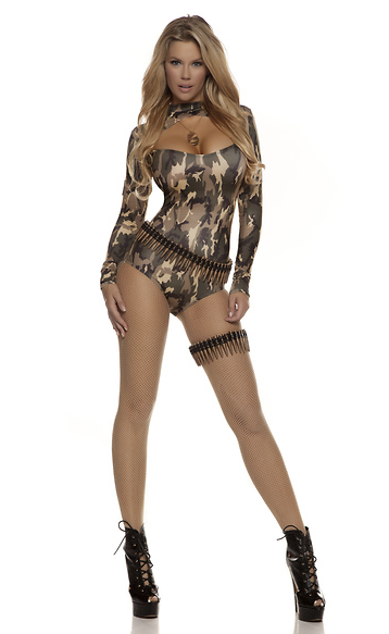 Captivating Camo Sexy Solider Costume - Rumor Apparel
