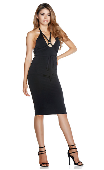 Tie Me Up Midi Dress - Rumor Apparel