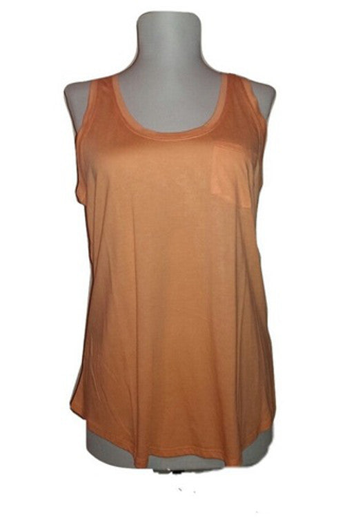 Solid Tank Top - Orange - Rumor Apparel
