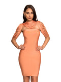 Honey Removable Collar Strapless Bandage Dress - Rumor Apparel