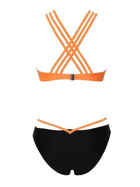 Choker Style Halter Two Piece Swimsuit - Rumor Apparel