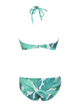 Tassel Palm Print Two Piece Swimsuit
