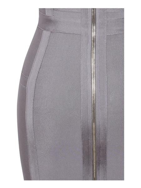 Halter Top Grey Bandage Dress - Rumor Apparel