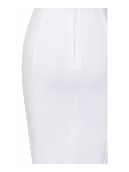 White Two Piece Bandage Dress with Choker