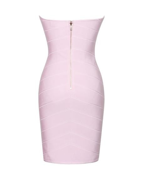 Strapless Wired Bustier Lavender Bandage Dress