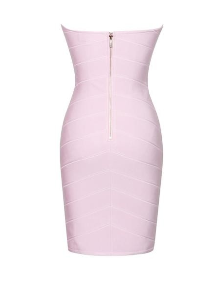 Strapless Wired Bustier Lavender Bandage Dress - Rumor Apparel