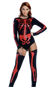 Fiery Frame Sexy Skeleton Costume - Rumor Apparel
