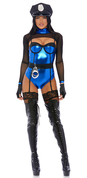 Mean Business Sexy Cop Costume - Rumor Apparel