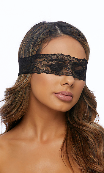 Black Lace Blindfold - Rumor Apparel