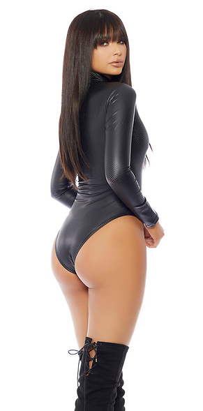 Impure Vegan Leather Lingerie Bodysuit - Rumor Apparel