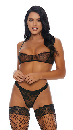 Lace is More Balconette Lingerie Set - Rumor Apparel
