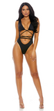 Black One Piece Criss Cross Swimsuit - Rumor Apparel