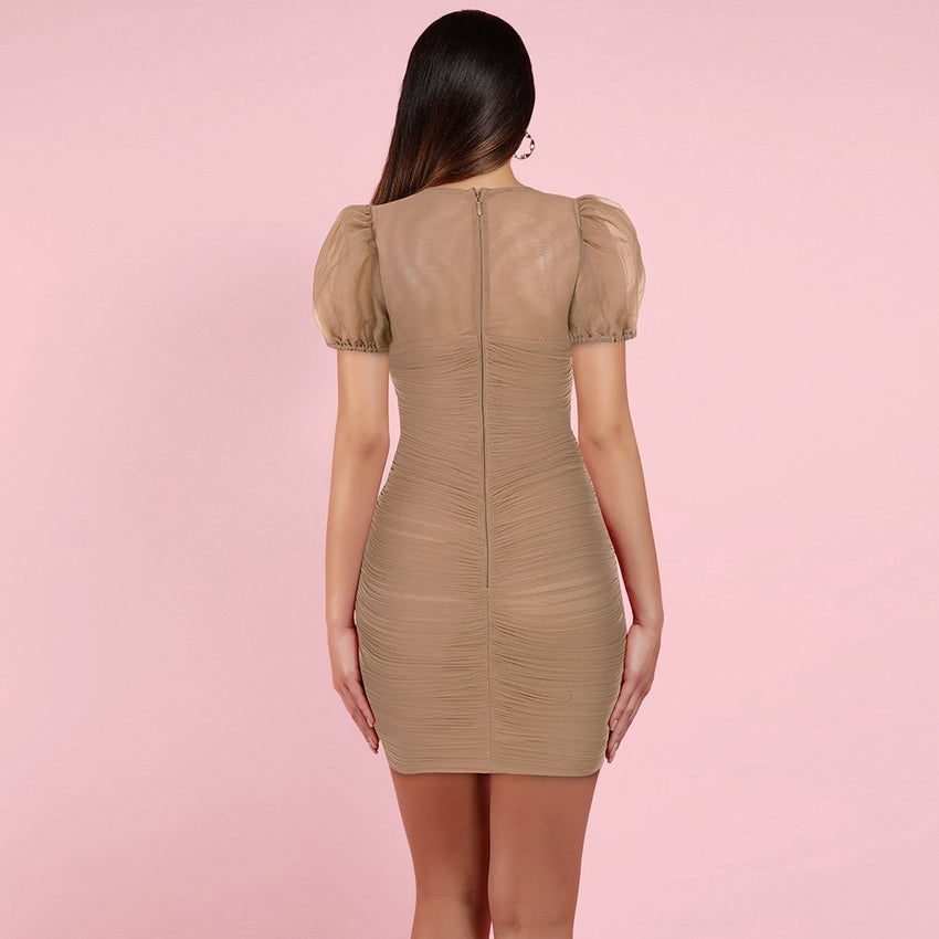 Short Sleeve Bodycon Mini Dress - Rumor Apparel