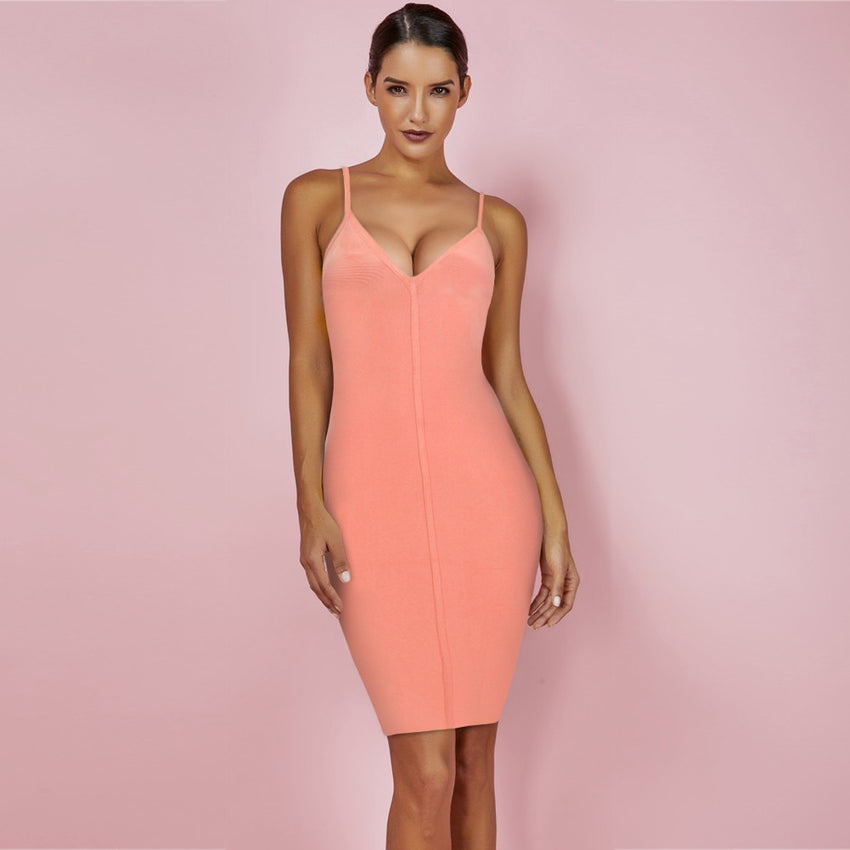Spaghetti Strap Mini Bandage Dress