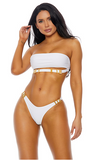 White Black Cali Bikini Set - Rumor Apparel