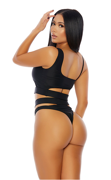 Black 2pc. Cutout Bikini Set - Rumor Apparel