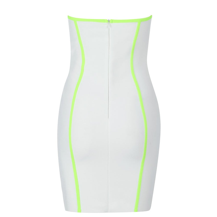 White Strapless Mini Bandage Dress