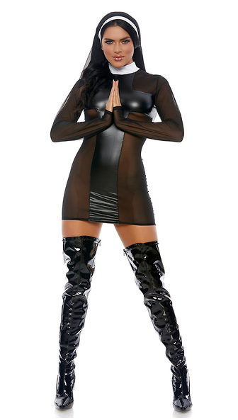 Forplay Pray For Me Sexy Nun Costume