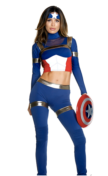 Fine Fighter Sexy Comic Book Hero Costume - Rumor Apparel