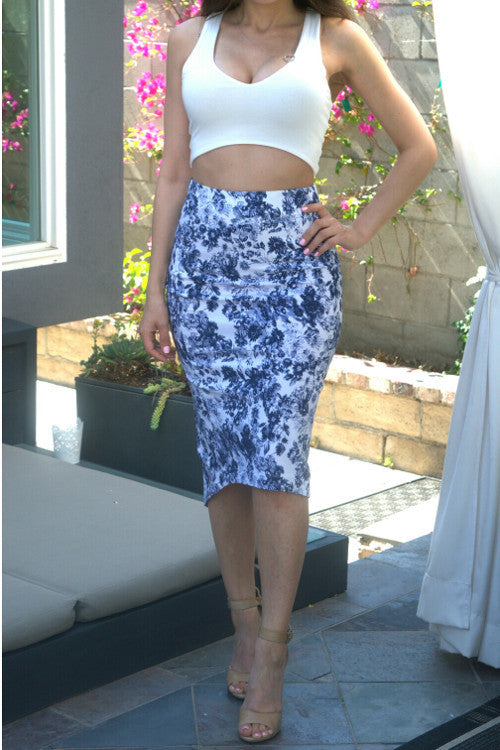 Floral Midi Skirt - Rumor Apparel
