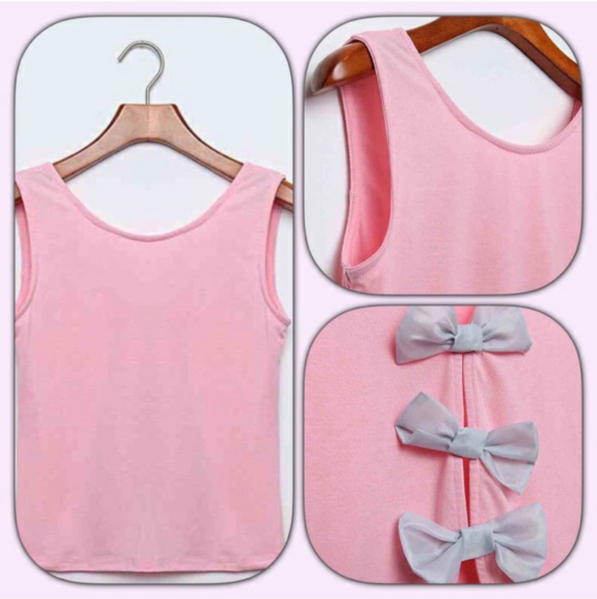 Pink Bow Top - Rumor Apparel
