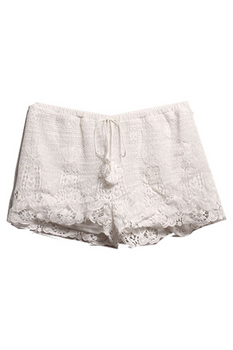 Crochet Shorts - White - Rumor Apparel