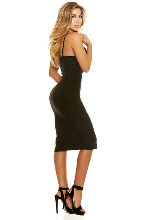 Such A Sweetheart Midi Dress - Black - Rumor Apparel
