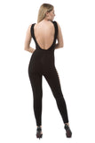 Bandage Jumpsuit with Side Cutouts - Black - Rumor Apparel