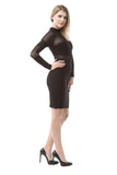 Round Neck Mesh Bandage Dress - Rumor Apparel