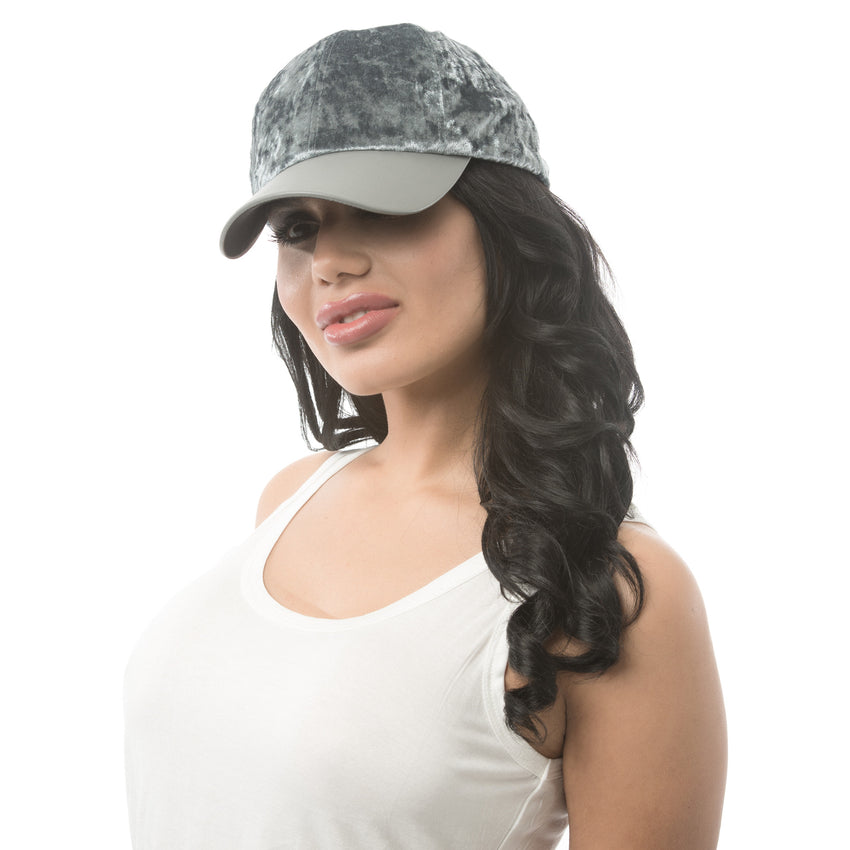 Velvet Cap - Grey - Rumor Apparel